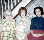 4 generations, 1964: Belle, Diana, Darin, Donna
