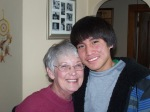 Quintin with his new grandma